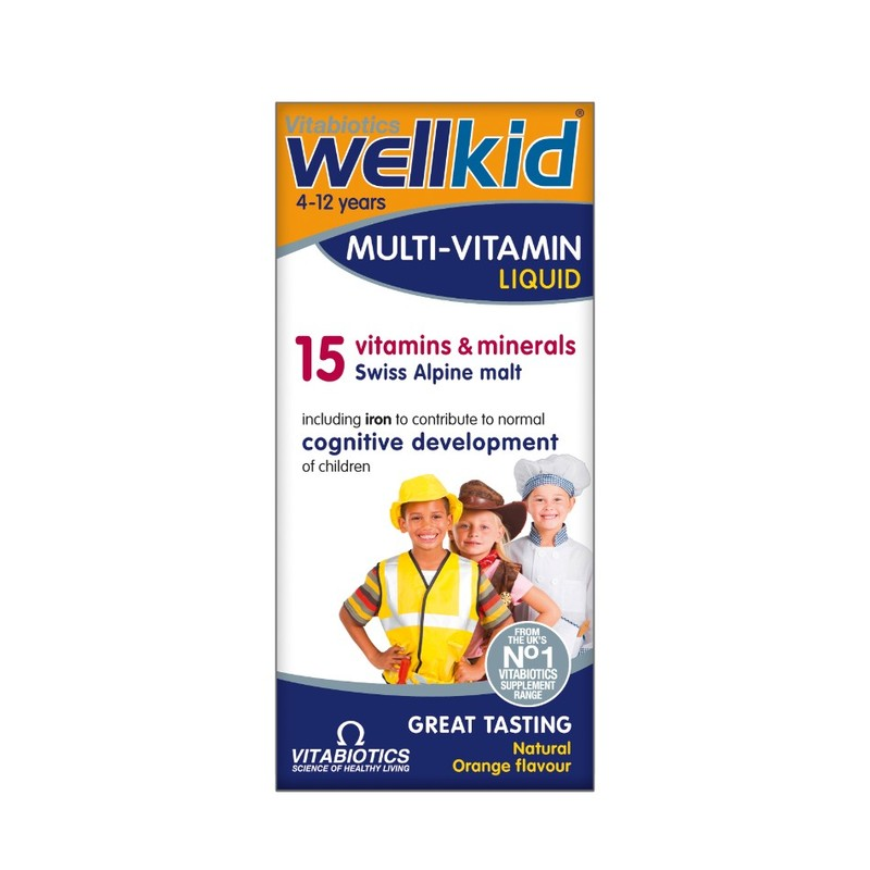 Vitabiotics Wellkid Multi Vitamin Liquid, 150ml