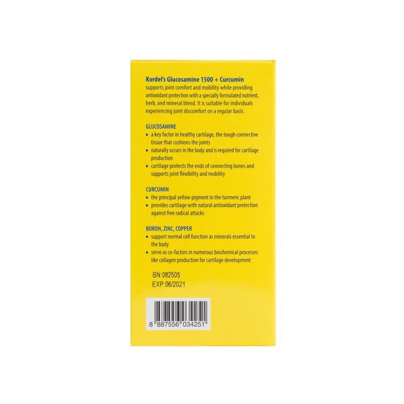 Kordel's Hi-Glucosamine + Curcumin 60s Twin Pack