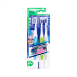 Systema Spiral Compact Head Toothbrush 3pcs