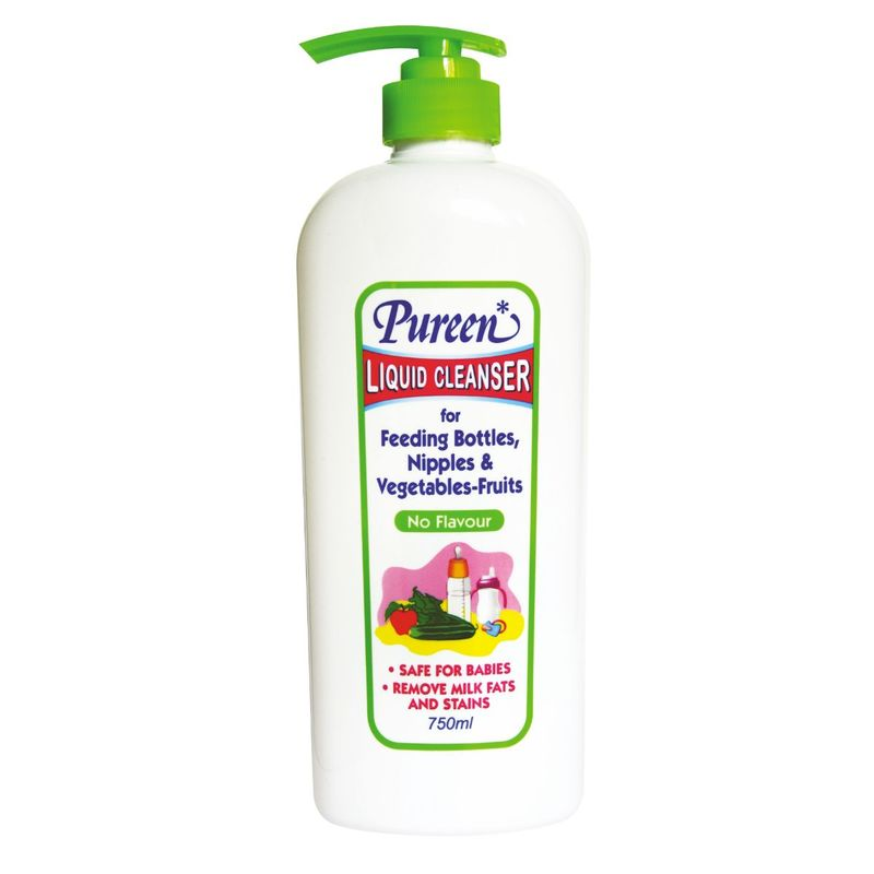Pureen Liquid Cleanser For Feeding Bottles, Nipples And Vegetables-Fruits (No Flavor) 750mL