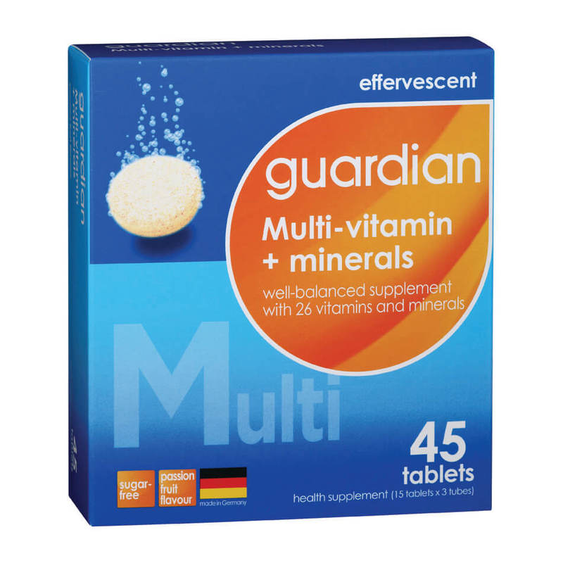 Guardian Effervescent Multi-Vitamin + Minerals, 3x15 tablets