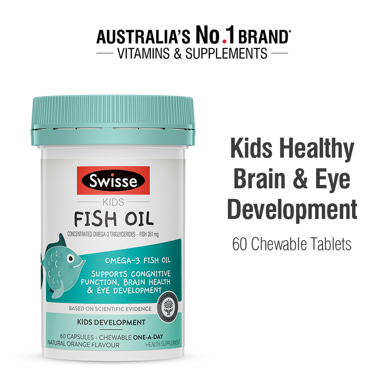 Swisse Kids Fish Oil, 60 capsules