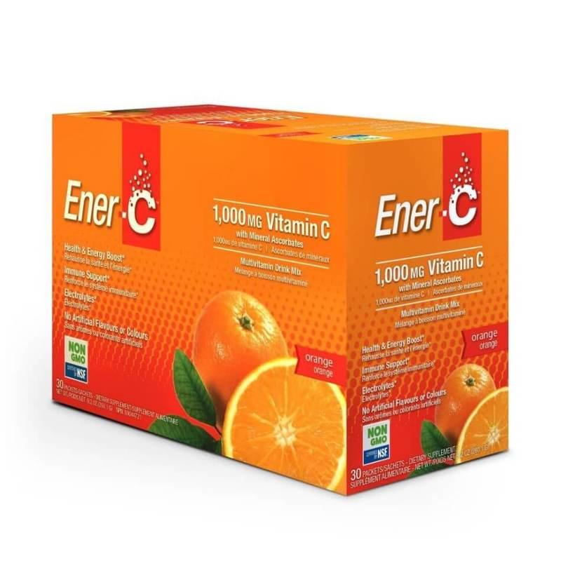 Ener-C Vitamin C Effervescent Powdered Drink Mix Orange 30 packets