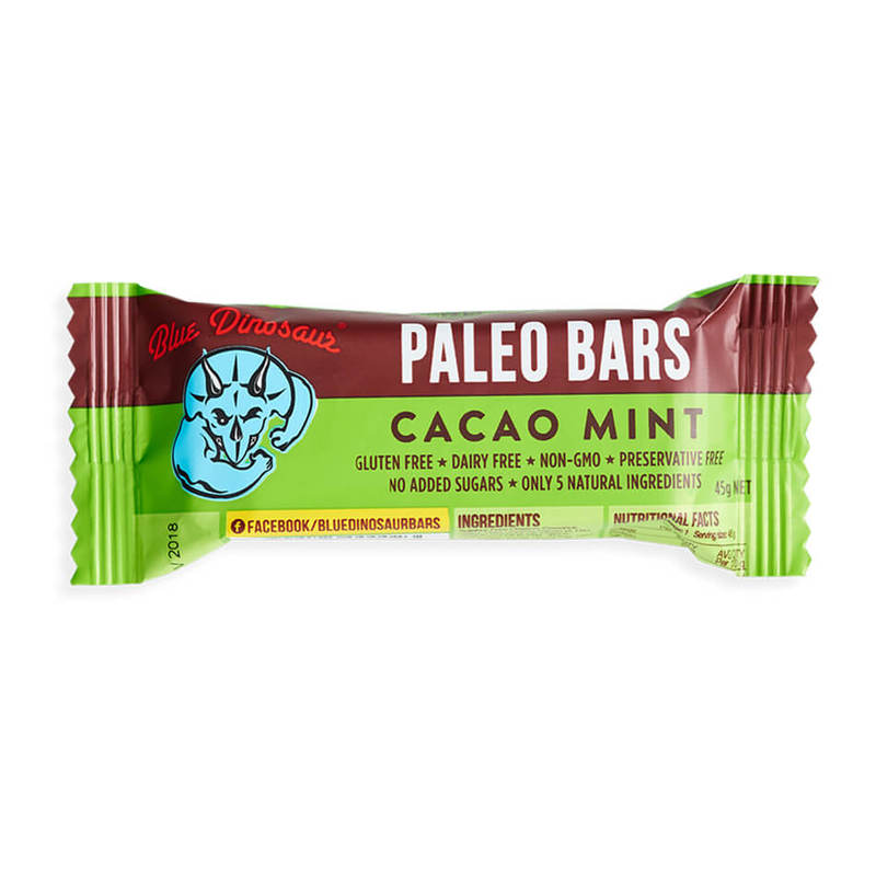 Blue Dinosaur Cacao Mint Paleo Bar, 45g