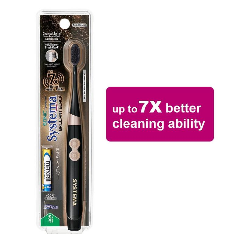Systema  Sonic Brilliant Black Toothbrush