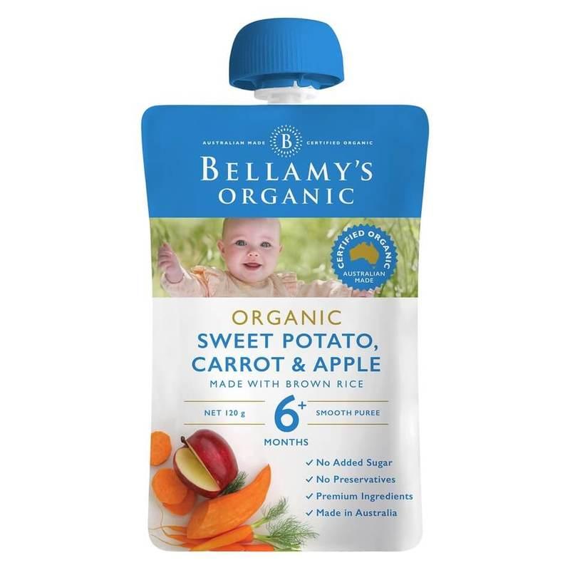 Bellamy's Organic Sweet Potato Carrot & Apple Pouch, 120g