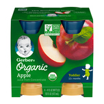 Gerber Organic Apple Juice 118mLx4