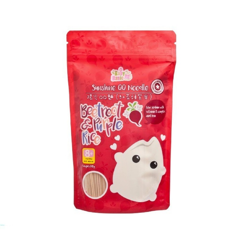 Sunshine QQ Noodle-Beetroot & Purple Rice 220g-F