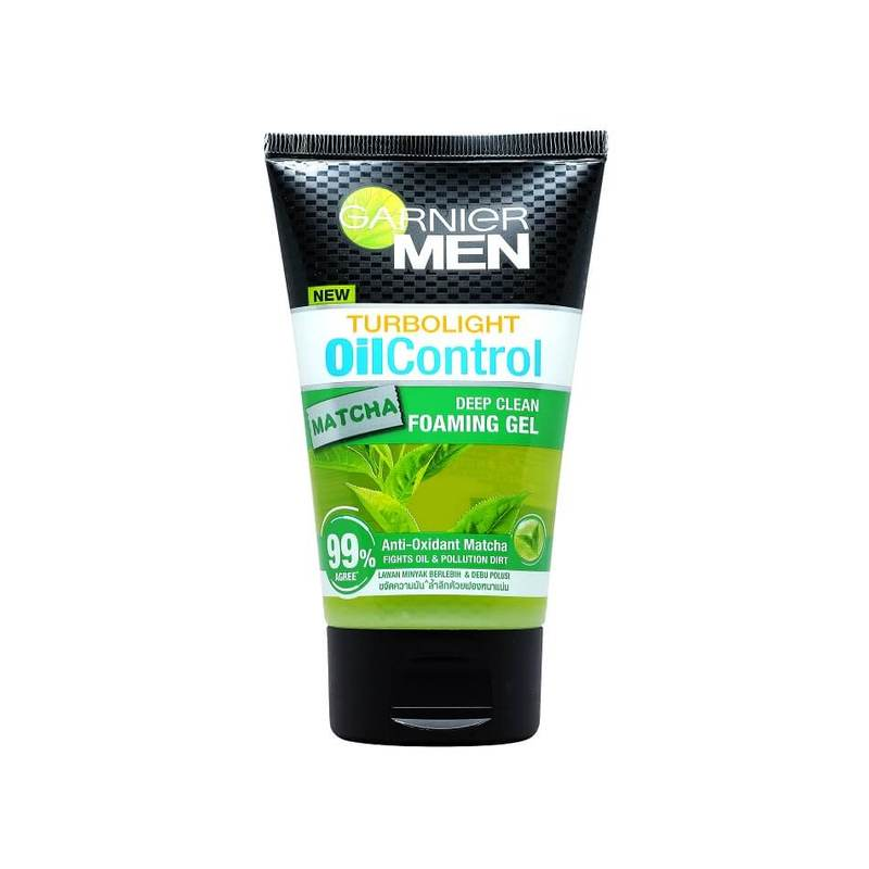 Garnier Men Turbo Light Oil Control Matcha Gel Cleanser, 100ml