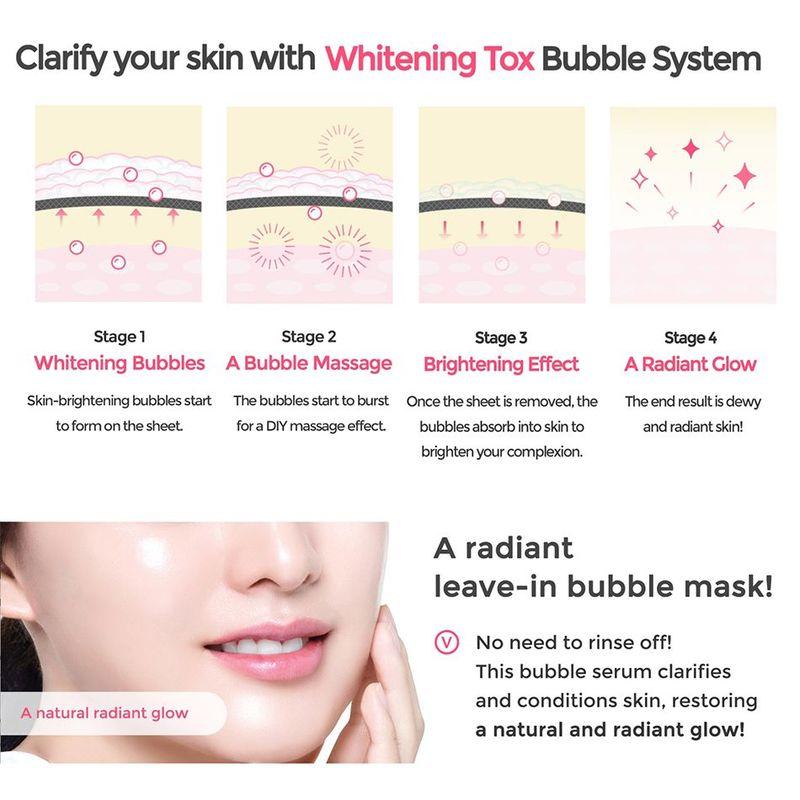 Mediheal Whitening Bubble Tox Serum Mask Pack Sheet 1ml