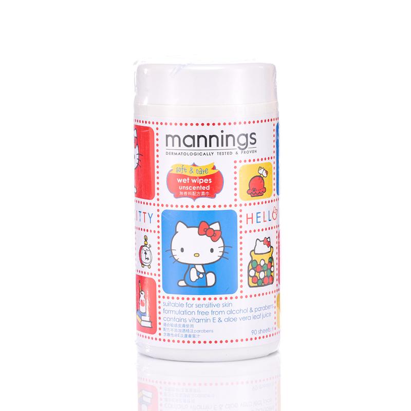 Mannings Hello Kitty Wet Tissue-Rev 90pcs