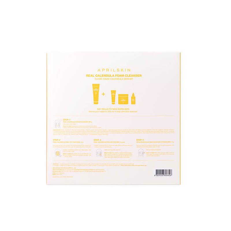 Aprilskin Clear Calm Calendula Skin Kit (Real Calendula Foam Cleanser), 401g