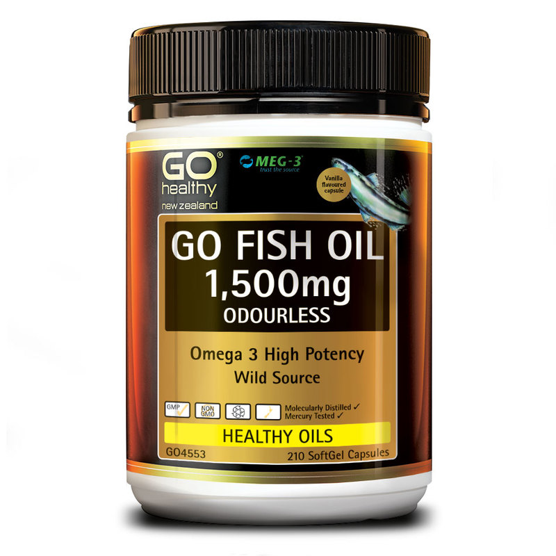 GO Healthy Fish Oil 1500mg, 210 capsules