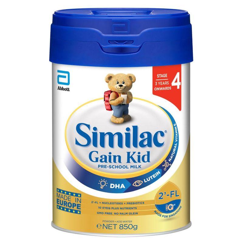 Similac Gain Kid 2-FL Stage 4 Milk Formula - 850G