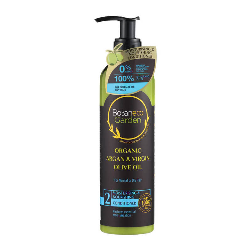 Botaneco Garden Organic Argan and Virgin Olive Oil Moisturising & Nourishing Conditioner, 290ml