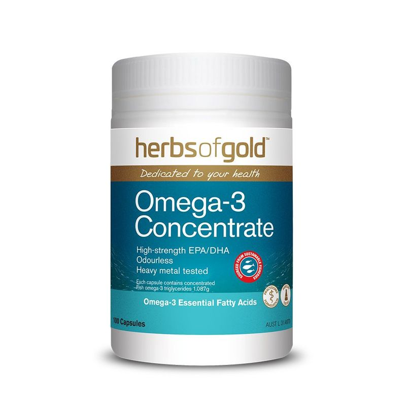 Herbs of Gold Omega-3 Concentrate 100 Capsules