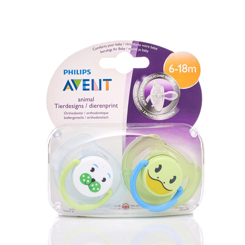 Philips Avent 6-18M Animal Soother 2pcs