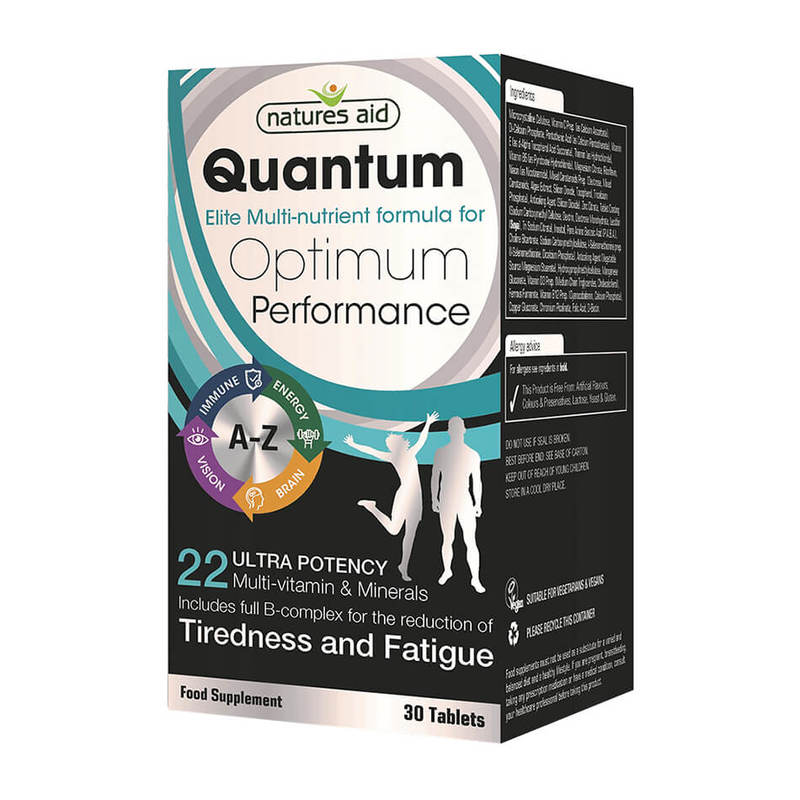 Natures Aid Quantum Ultra Potency Multi-Vitamins & Minerals, 30 tablets