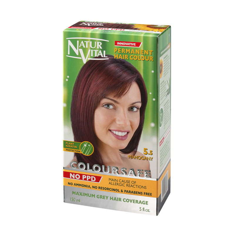 Natur Vital ColourSafe Permanent Hair Dye Mahogany