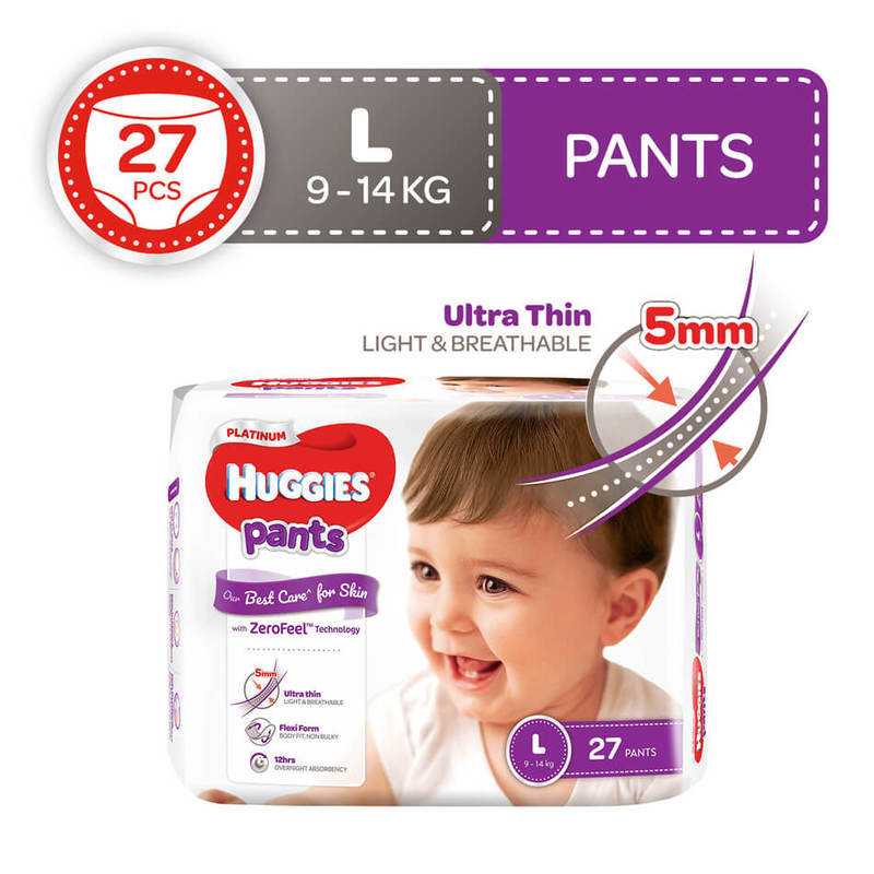 Huggies Platinum Pants L, 27pcs