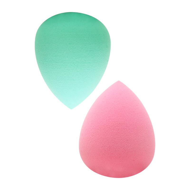 Be Youtiful Mini 3D Beauty Blending Sponge Turquoise & Pink, 2pcs