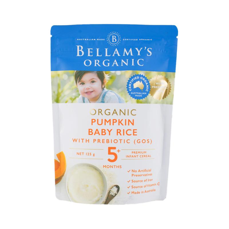 Bellamys Pumpkin Baby Rice 125g