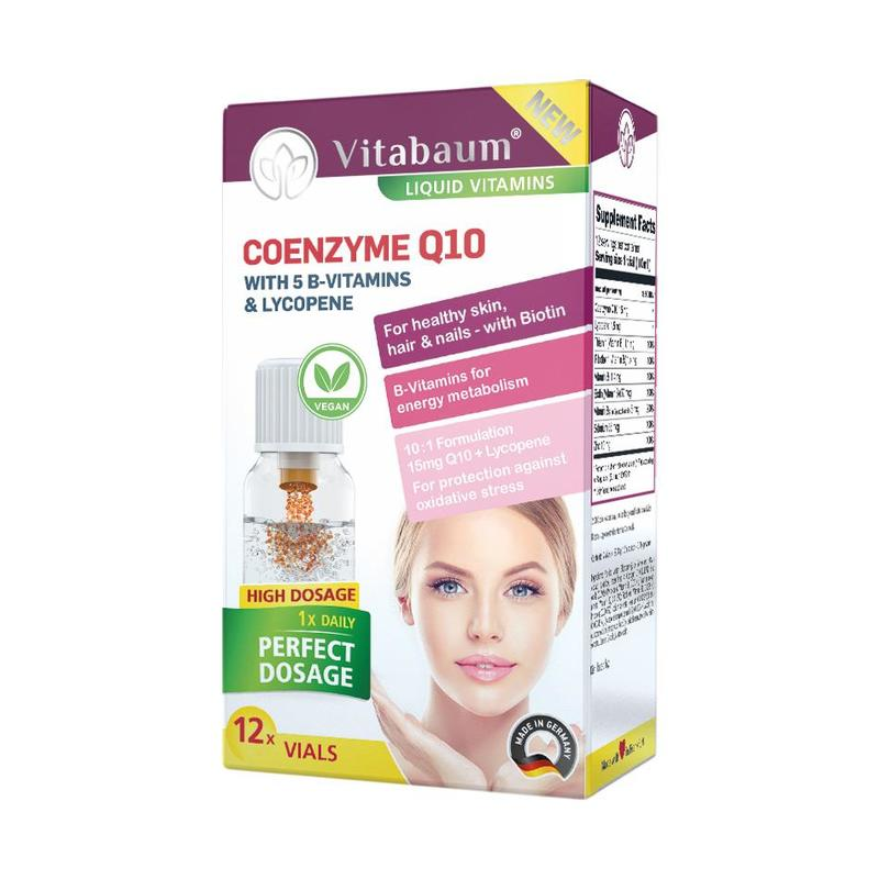 Vitabaum  Coenzyme Q10 Plus Vitamins 12 vials, 10ml each