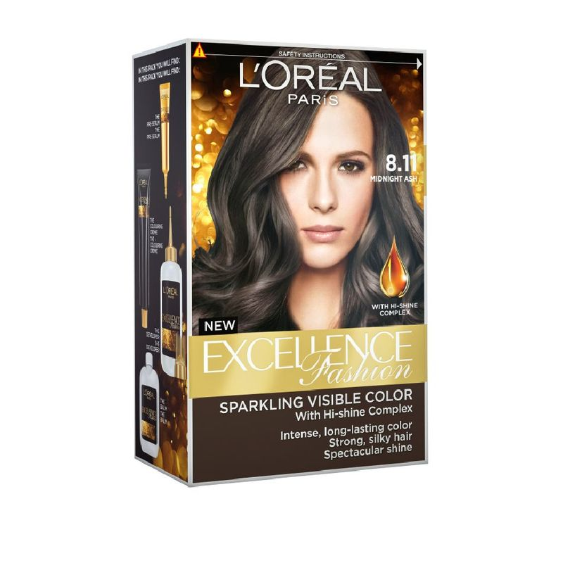 Loreal Paris Excellence Fashion 8.11 Midnight Ash 1 Unit