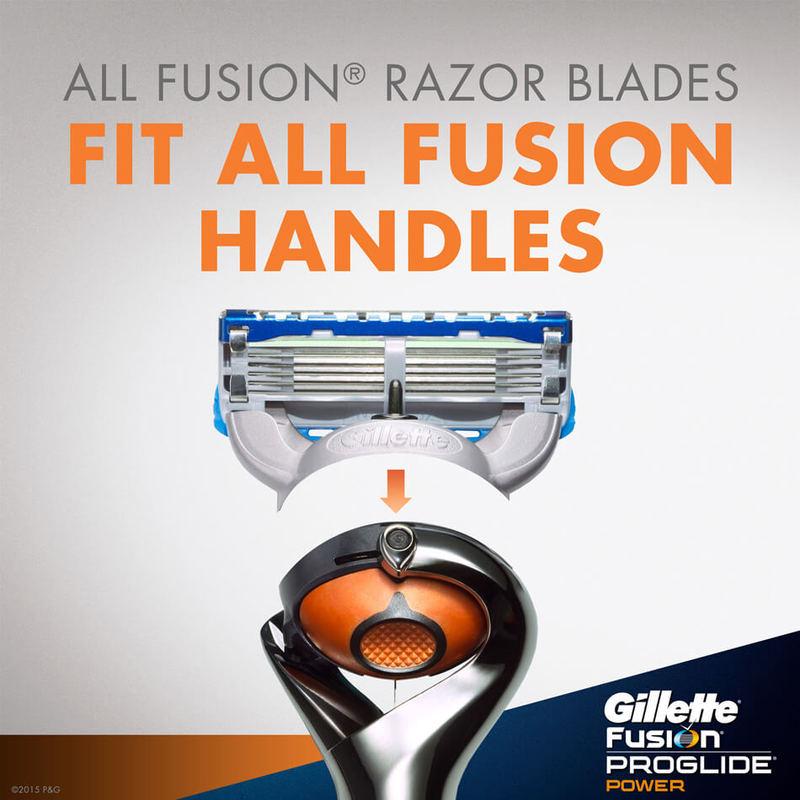 Gillette Fusion ProGlide Power Refill, 4pcs