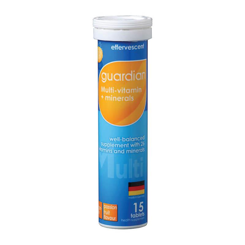 Guardian Effervescent Multi-Vitamin + Minerals, 15 tablets