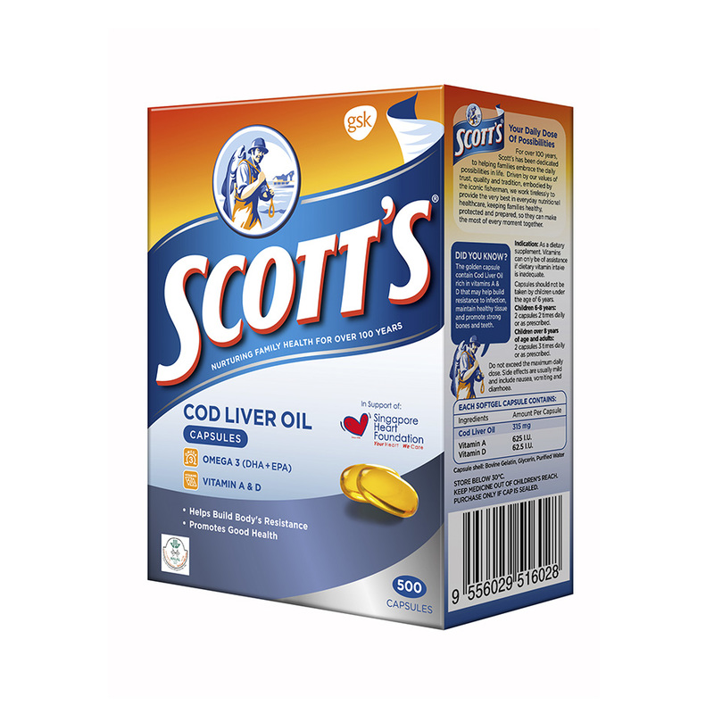 Scotts Cod Liver Oil 500caps