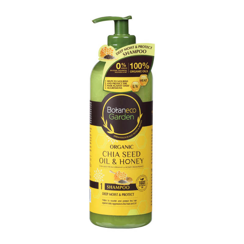 Botaneco Garden Organic Chia Seed and Honey Shampoo, 500ml
