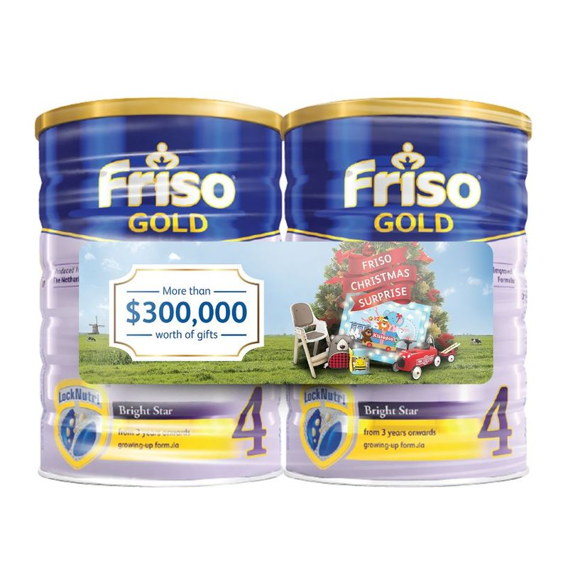 Friso Gold Stage 4 Scratch and Win Twin Pack, 2x1.8 kg  + Scatch Card