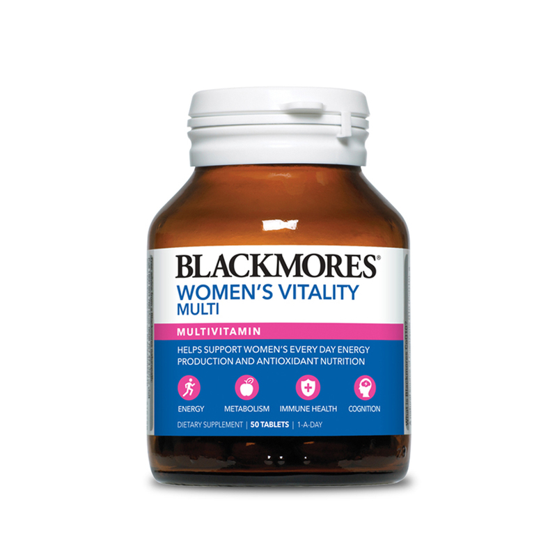 Blackmores Woman's Vitality Multivitamin, 50 tablets