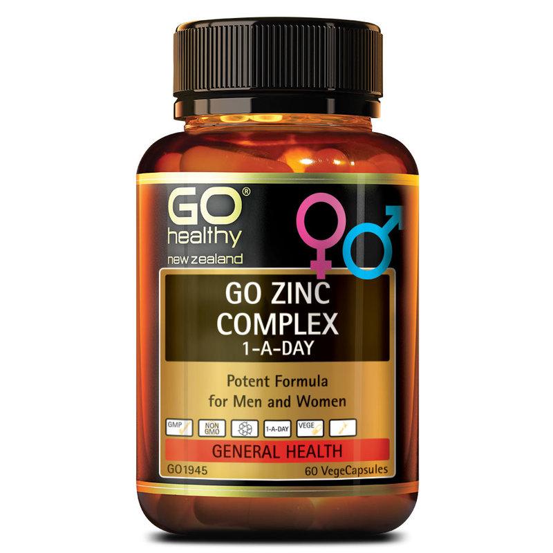 GO Healthy Zinc Complex, 60 capsules
