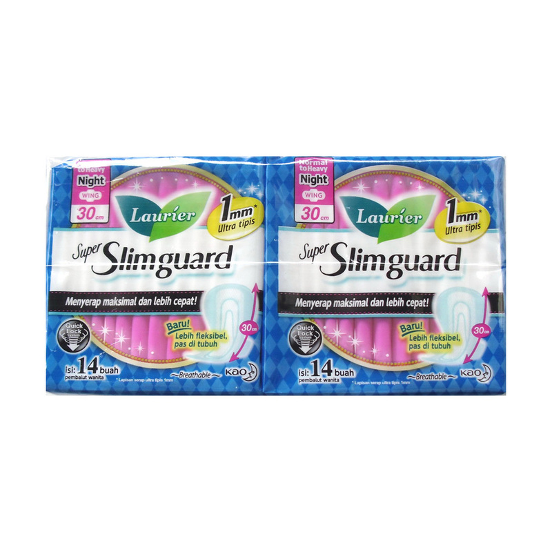 Laurier Super Slimguard Night 30Cm Twin Pack 2X14S