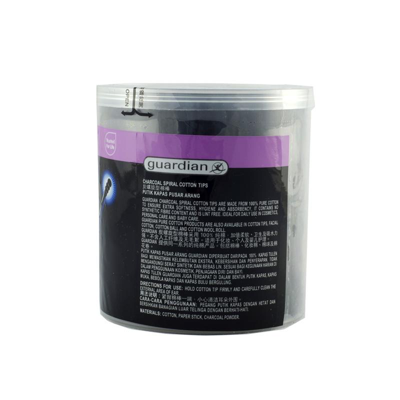 Guardian Charcoal Spiral Cotton Tips, 200pcs