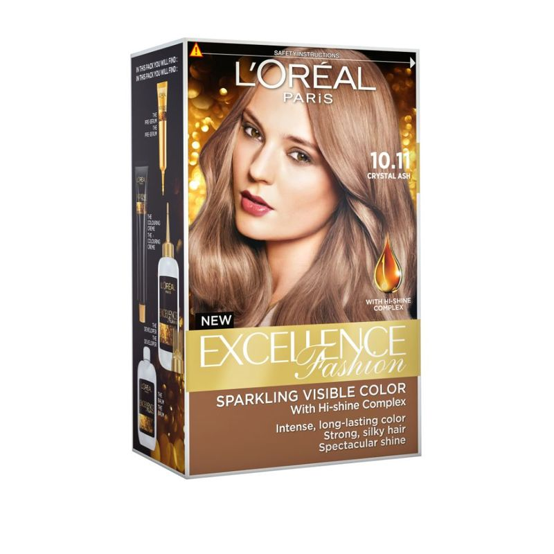 L'Oreal Paris Excellence Fashion 10.11 Crystal Ash 1 Box