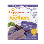 Happy Baby Organics Teething Wafers:Blueberry Purple Carrot 4g x12pcs