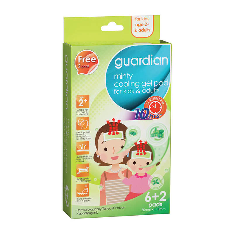 Guardian Minty Cooling gel Pad For Kids & Adults, 6+2 pcs