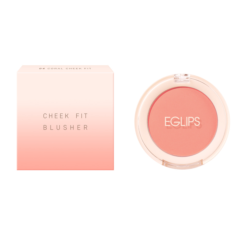 Eglips Cheek Fit Blusher 04 Coral Cheek Fit
