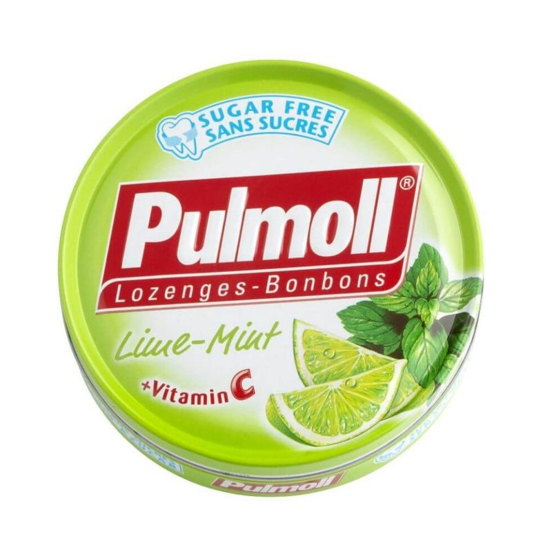 Pulmoll Lozenges Lime Mint + Vitamin C, 45g