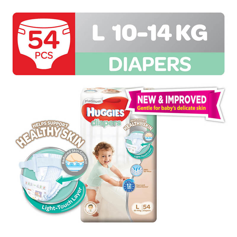 HUGGIES DIAPERS LARGE54 NEW