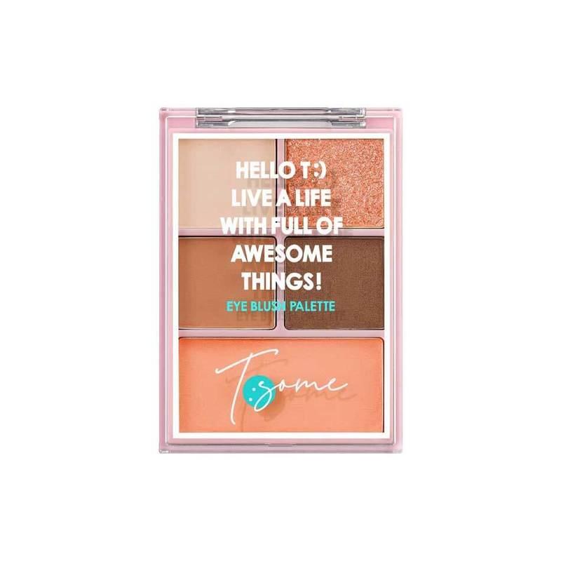 Tsome Eye Blush Palette 02 Nude Raffine 12.3g
