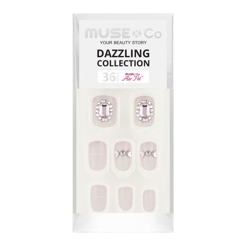 MUSE & Co Dazzling Collection 36 Nails,  Radiant Blush