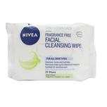 Nivea Fragrance Free Facial Cleansing Wipes, 25pcs