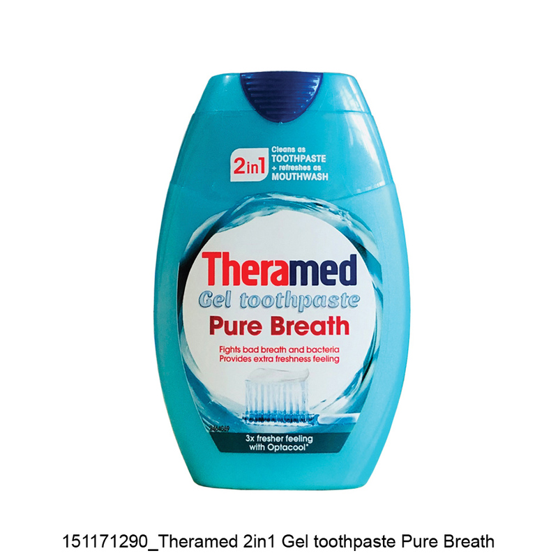 Theramed 2 in 1 Pure Breath Toothpaste,75ml