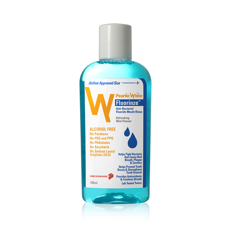 Pearlie White Fluorinze Anti-Bacteria Fluoride Mouth Rinse, 100ml
