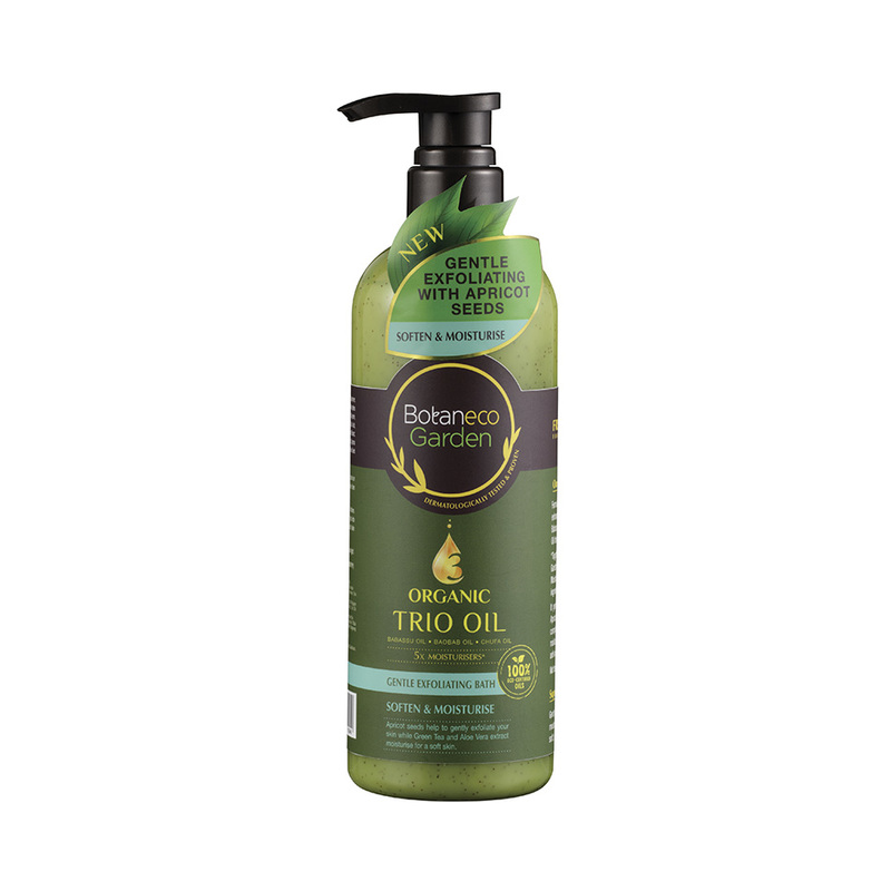 Botaneco Garden Trio Oil Exfoliating Bath Moisturising, 500ml