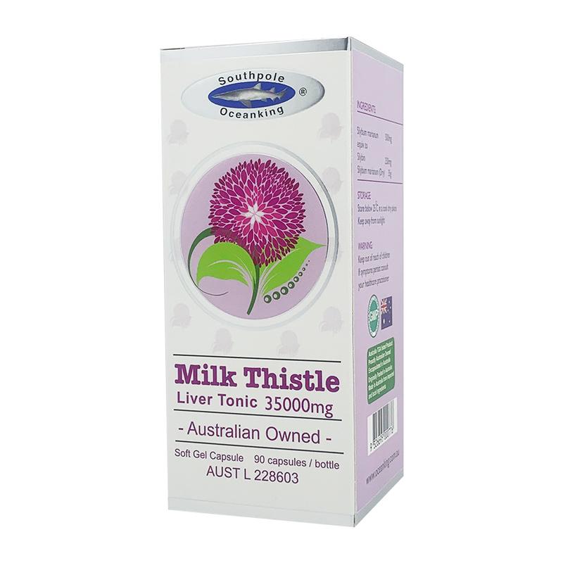 Ocean King Milk Thistle 35000mg Liver Tonic, 90 capsules